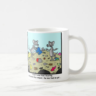 Recycling and Composting: Rat Cartoon Coffee Mug