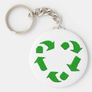 recycling and lovin it basic round button key ring