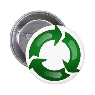 Recycling Pinback Button