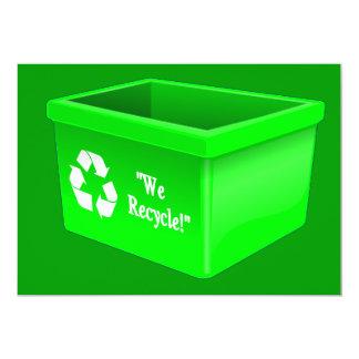 "recycling-bin-307684  recycling bin sign empty sym 5"" x 7"" invitation card"