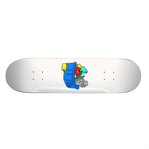 Recycling Bin Skateboard Deck