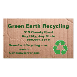 Recycling Business Cardboard Look Business Card