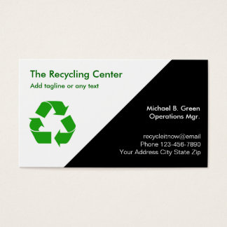 Recycling Business Cards