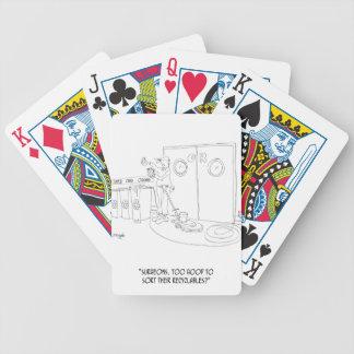 Recycling Cartoon 9265 Poker Deck