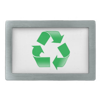 Recycling CLASSIC RECYCLE SYMBOL Rectangular Belt Buckle