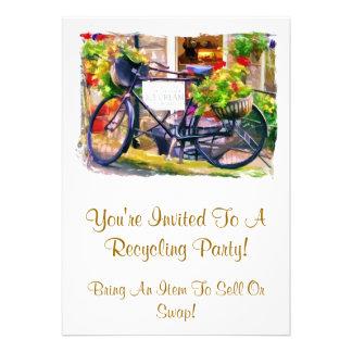 RECYCLING CUSTOM INVITATIONS
