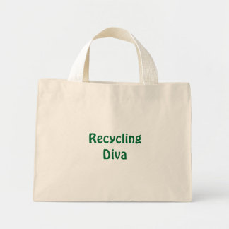 Recycling Diva Mini Tote Bag