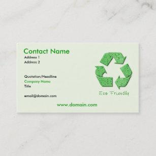 Eco friendly business cards zazzle au recycling eco friendly business card reheart Image collections