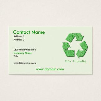 Recycling Eco Friendly Business Card