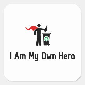 Recycling Hero Square Sticker