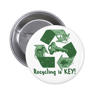 Recycling is Key Earth Day Gear Pins