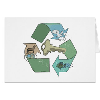 Recycling is Key Earth Day Gear Greeting Card