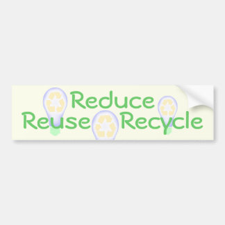 Recycling Light Bulb Bumper Sticker
