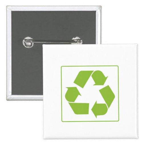 Recycling Logo Pinback Button