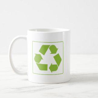 Recycling Logo Basic White Mug