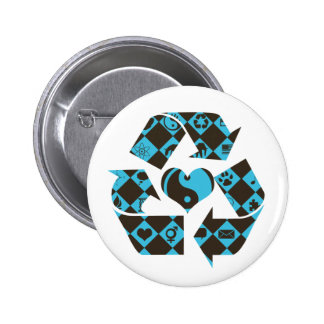 Recycling Love 6 Cm Round Badge