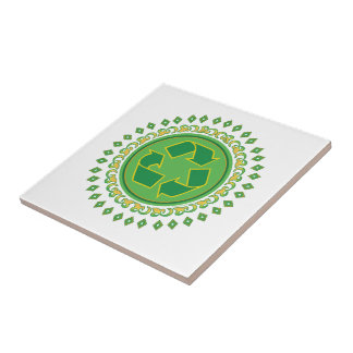 Recycling Medallion Ceramic Tile