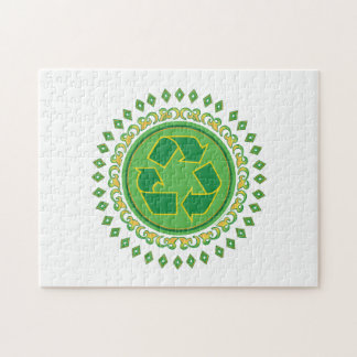 Recycling Medallion Jigsaw Puzzle