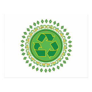 Recycling Medallion Postcard