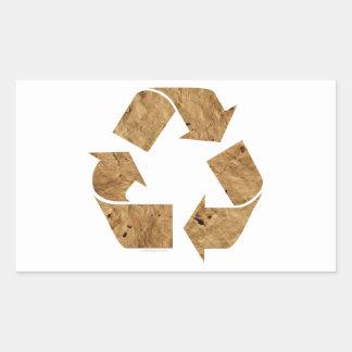 Recycling Rectangular Sticker
