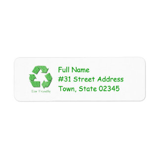 Recycling Return Address Label