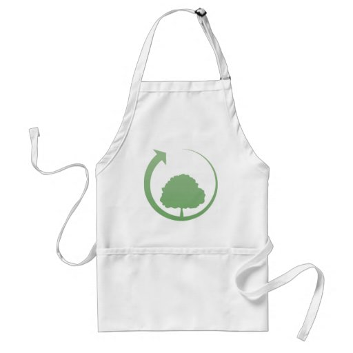 Recycling sign apron