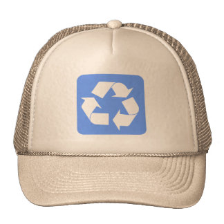 Recycling Sign - Baby Blue Hats