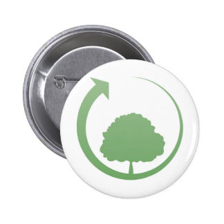 Recycling sign pinback buttons