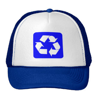 Recycling Sign - Blue Mesh Hat