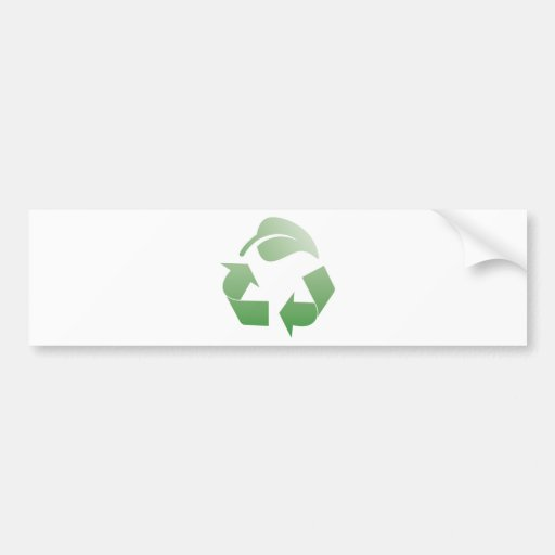 Recycling sign bumper sticker