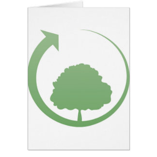 Recycling sign greeting cards