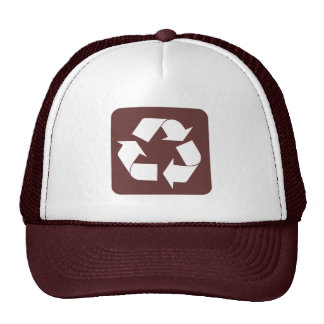 Recycling Sign - Dark Brown Hat