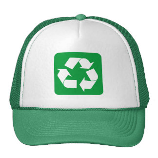 Recycling Sign - Grass Green Hat