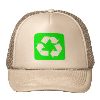 Recycling Sign - Green Hat