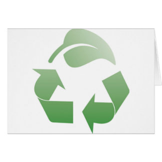 Recycling sign greeting card