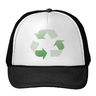 Recycling sign trucker hats