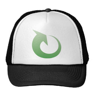 Recycling sign mesh hat