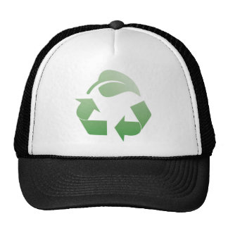 Recycling sign hats