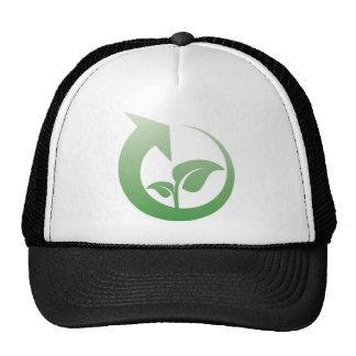 Recycling sign mesh hats