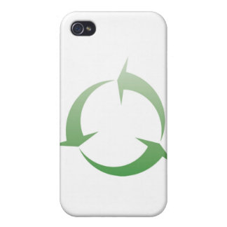 Recycling sign iPhone 4 cover