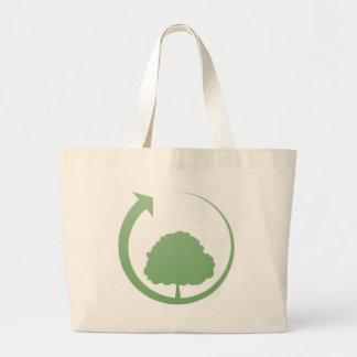 Recycling sign jumbo tote bag