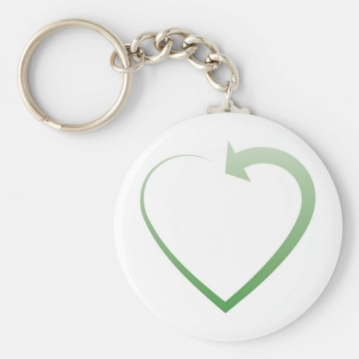 Recycling sign key chains