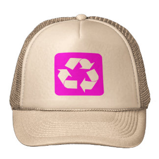 Recycling Sign - Magenta Trucker Hats