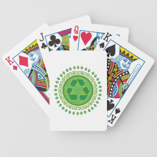 Recycling Sign Medallion Bicycle Poker Cards