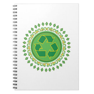 Recycling Sign Medallion Notebooks