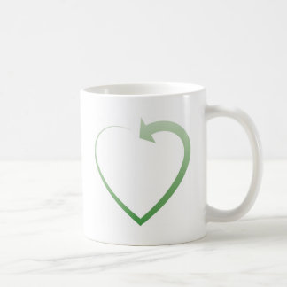 Recycling sign coffee mug