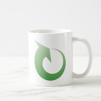Recycling sign coffee mugs
