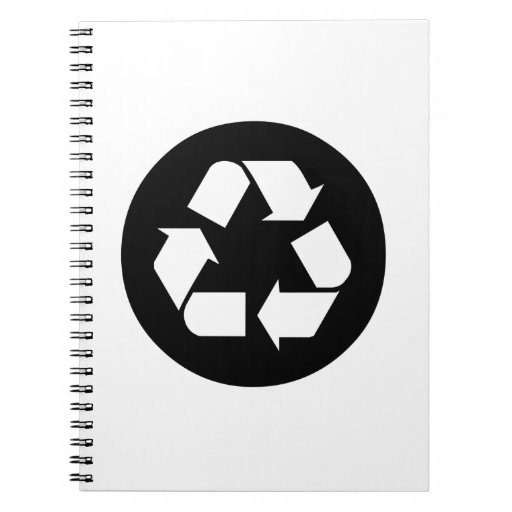 Recycling Sign Spiral Note Books