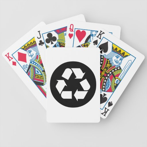 Recycling Sign Deck Of Cards
