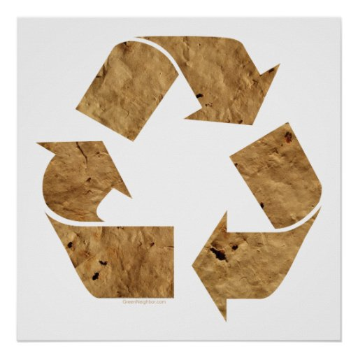 . Recycling Sign Print
